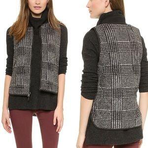 Madewell Reversible Black Puffer Plaid Vest